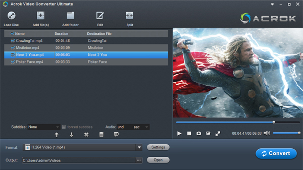 HEVC H.265 video player download